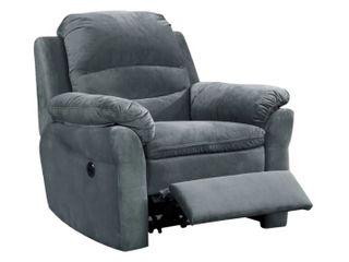Copper Grove Dark Grey Polyester Power Recliner with lumbar massage   Retail 327 99  Super Soft  And Works  Even Has USB Port