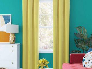 Harper Bright Vibes Grommet Top 100  Blackout Curtain Panel Yellow   Sun Zero