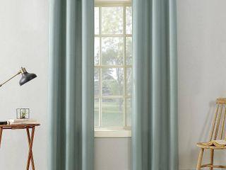 No  918 Sora Casual Textured Grommet Curtain Panel Pair