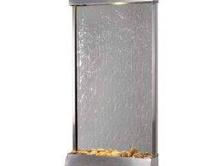 Breckenridge 42 Inch Height Stainless Steel and Mirror Floor Wall Fountain  Retail  436 89