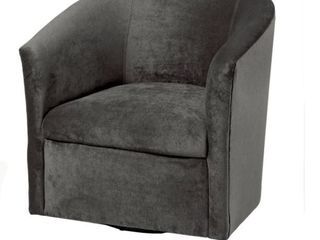 Ellery Microfiber Swivel Accent Chair  Grey