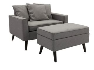 Modern Upholstered Chair With Ottoman