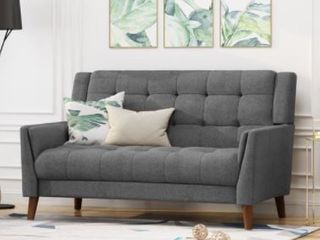 Candace Mid Century Modern Fabric loveseat by Christopher Knight