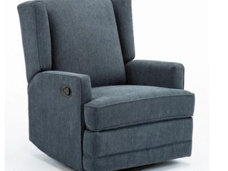 Shelby Wingback Swivel Glider Recliner by Greyson living  Retail 479 99