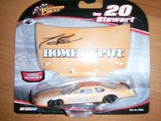 Tony Stewart  20 Winners Circle light Orange Home Depot Track Test 1 64 Car with 1 24 Scale Hood