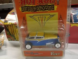 Moon Equipped Hot Rod Underground Die Cast 1950 Ford Shoebox lady luck