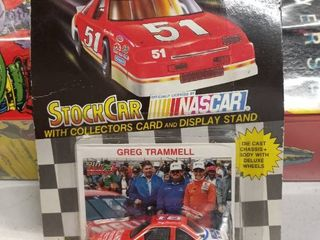 Racing Champions stock car NASCAR with collector s card and display stand Gregg Trammell number 18