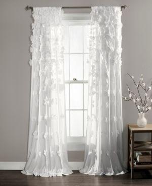 84 x54 Riley Sheer Window Curtain White   lush DAccor