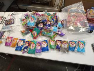 very large lot of McDonald s Happy Meal Ty Beanie Babies various