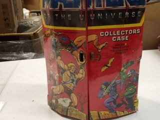 Vintage Tara Toy He man Motu Collector s Carrying Case W  Clasp  2 Trays  Handle