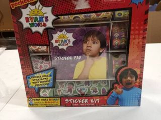 Ryan s World Sticker Kit Pocket Watch Over 1000 Stickers Free Shipping