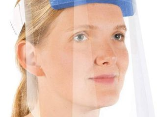 Protective Face Shields with Clear Vision