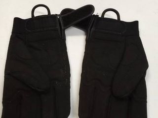size small black work gloves padded Palms
