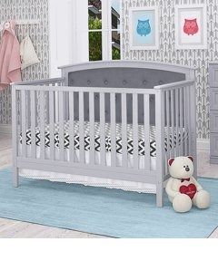 Bentley Tufted 4 in 1 Convertible Crib only Retail 276 49 grey