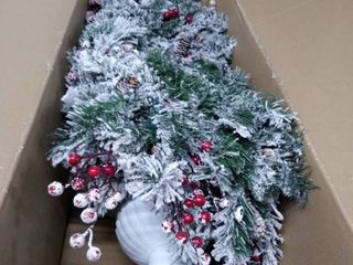 christmas tree in white pot