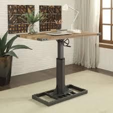 Furniture of America Kic Industrial Black Height Adjustable Desk  Retail 549 99 2 boxes