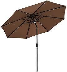 Ainfox 10Ft Outdoor Patio Solar Umbrella Retail 99 99 brown