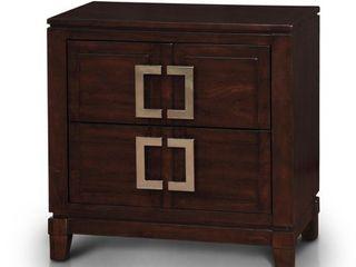 Furniture of America Jofi Transitional Cherry Solid Wood Nightstand  Retail 267 99