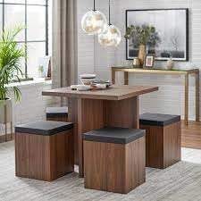 Simple living 5 piece Baxter Dining Set with Storage Ottomans   Retail 284 99
