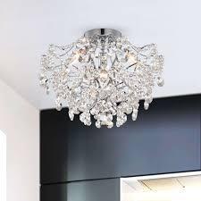 Dalia Elegant Indoor 3 light Chrome Crystal Flush Mount  Retail 152 99