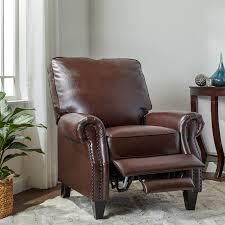 Abbyson Carla Bonded leather Pushback Recliner  Retail 352 49 brown