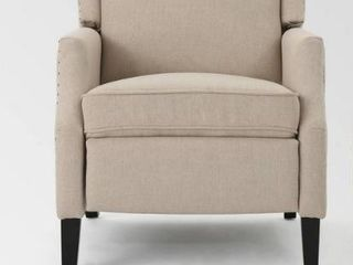 Wescott Contemporary Fabric Recliner 1 only by Christopher Knight Home wheat