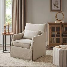 Martha Stewart london Skirted Swivel Chair  Retail 445 49 beige