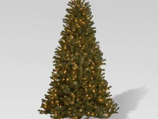 9 foot Noble Fir Pre lit String light or Unlit Hinged Artificial Christmas Tree by Christopher Knight Home  Retail 272 99 clear