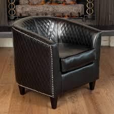 christopher knight home mia black bonded chair