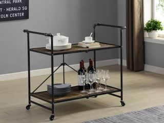 FirsTime   Co  Hudson Folding Bar Cart  American Crafted  Dark Silver  Metal  31 5 x 16 x 31 5 in   31 5 x 16 x 31 5 in  Retail 142 99