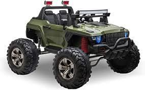 Aosom Ride On Car Off Road Truck SUV 12 V Electric Battery Powered with Remote Control and MP3  Adjustable Speed  Retail 665 99 green 2 boxes