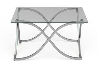 Furniture of America Artenia Modern Chrome Coffee Table Retail 342 49
