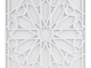 Madison Park Boho Notion Off White Square Carved Wall Panel