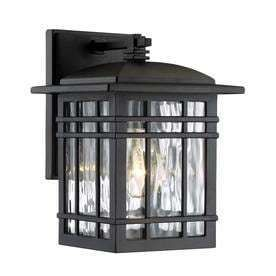 Quoizel Canyon 9 88 in H Matte Black Outdoor Wall light