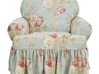 Sure Fit Ballad Bouquet Armchair T Cushion Skirted Slipcover Retail 89 99