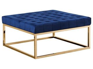Best Master Furniture Navy Blue  Gold Ottoman Coffee Table  Retail 353 49