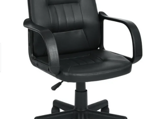 Porch   Den Uebel Black Mid back Manager Chair with Arms