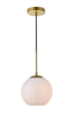 1 light Pendant with 10 inch Frosted White Glass Retail 79 20