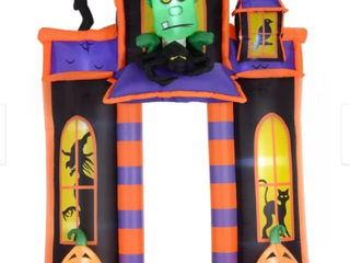 HomCom 10  Halloweeen Inflatable Archway