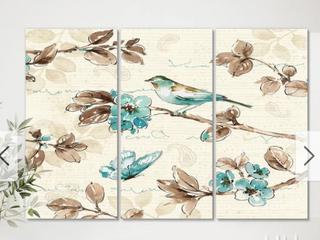 Designart  Beige Bird Wings  Cottage Canvas Wall Art  Retail 143 49