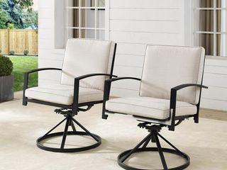 Kaplan 2Pc Outdoor Dining Swivel Chair Set Retail 493 99