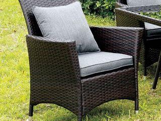 leodore Contemporary Arm Chair  Gray Seat  2Pcs