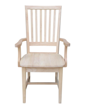 Copper Grove Ruellia Ready to finish Parawood Side Chair with Arms  Retail 115 99