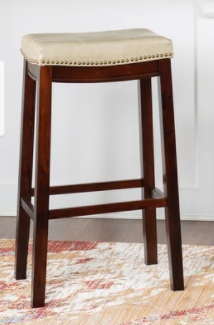 Copper Grove Ghindesti Backless Saddle seat Counter Stool