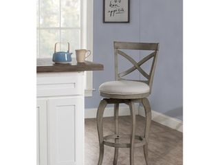 Ellendale Swivel Counter Height Stool Gray   Hillsdale Furniture