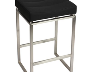 Cortesi Home ISIS Brushed Stainless Stell Counter Stool