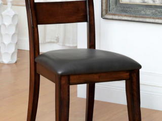 Furniture of America Paur Modern Cherry Dining Chairs  Set of 2  Retail 195 67