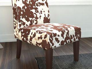 The Gray Barn Echo Park Quintero Cowhide Print Fabric Dining Chair  Retail 117 49