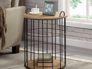 FirsTime   Co  Arborfield Basket Storage Table Retail 119 99