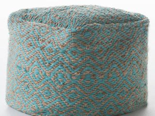 Preston Handcrafted Boho Fabric Pouf by Christopher Knight Home Retail 107 99